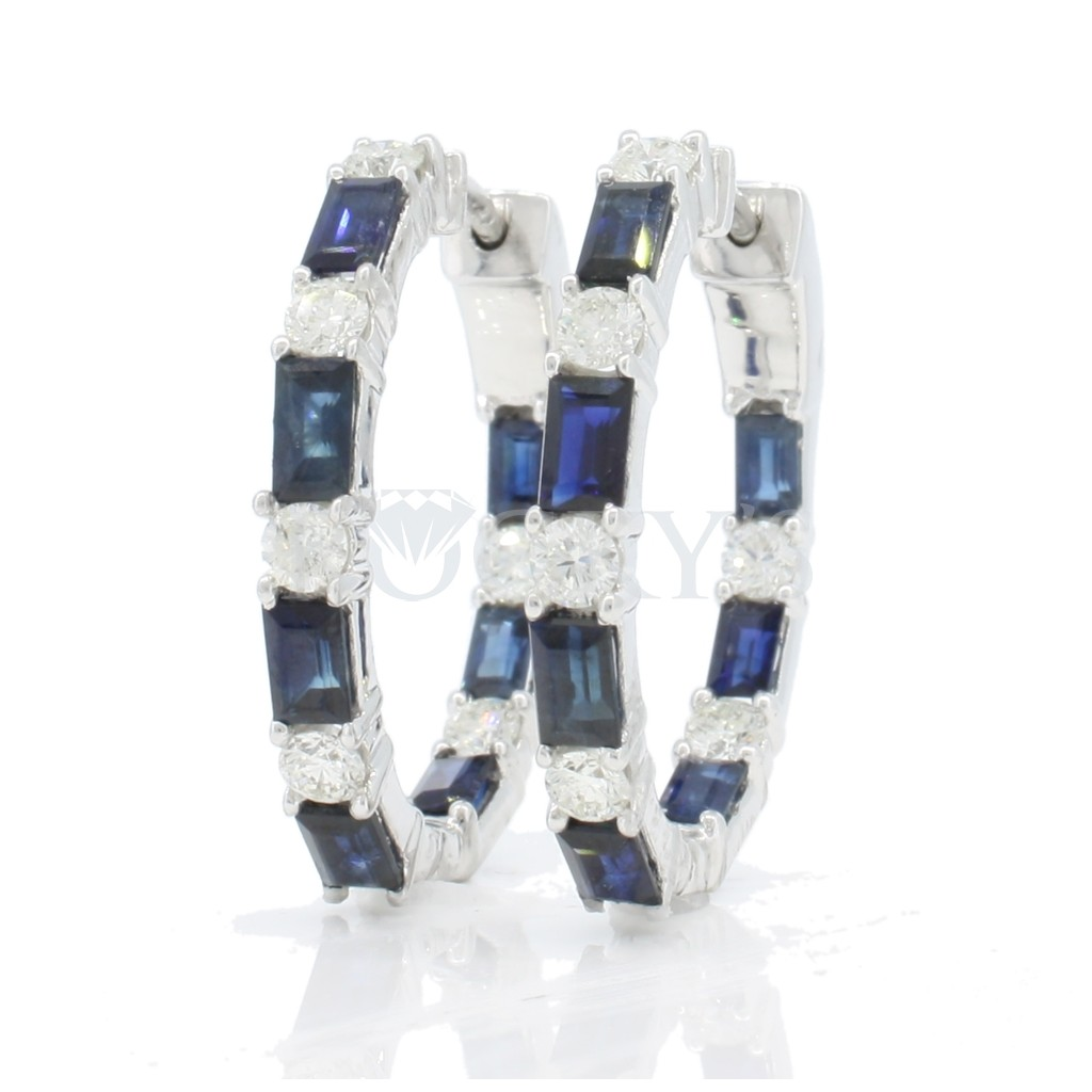 Sapphire Earrings with 3.99 Carats