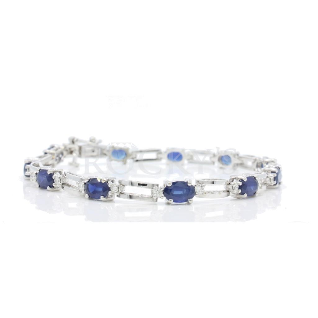 Sapphire Diamond Bracelet with 7.46 Carats