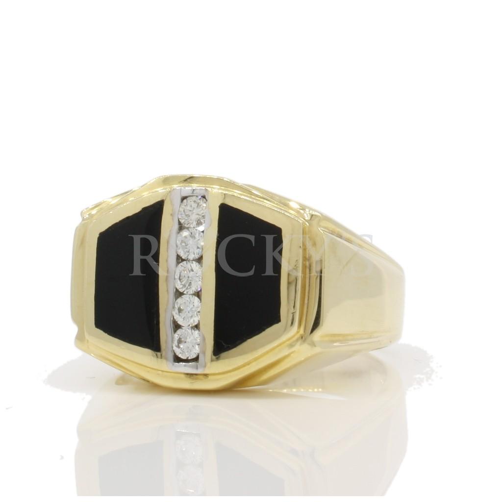 Men's Onyx Diamond Ring with 1.73 Carats