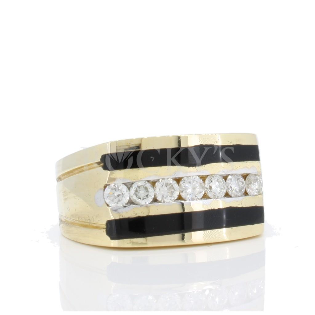 Men's Onyx Diamond Ring with 0.46 Carats