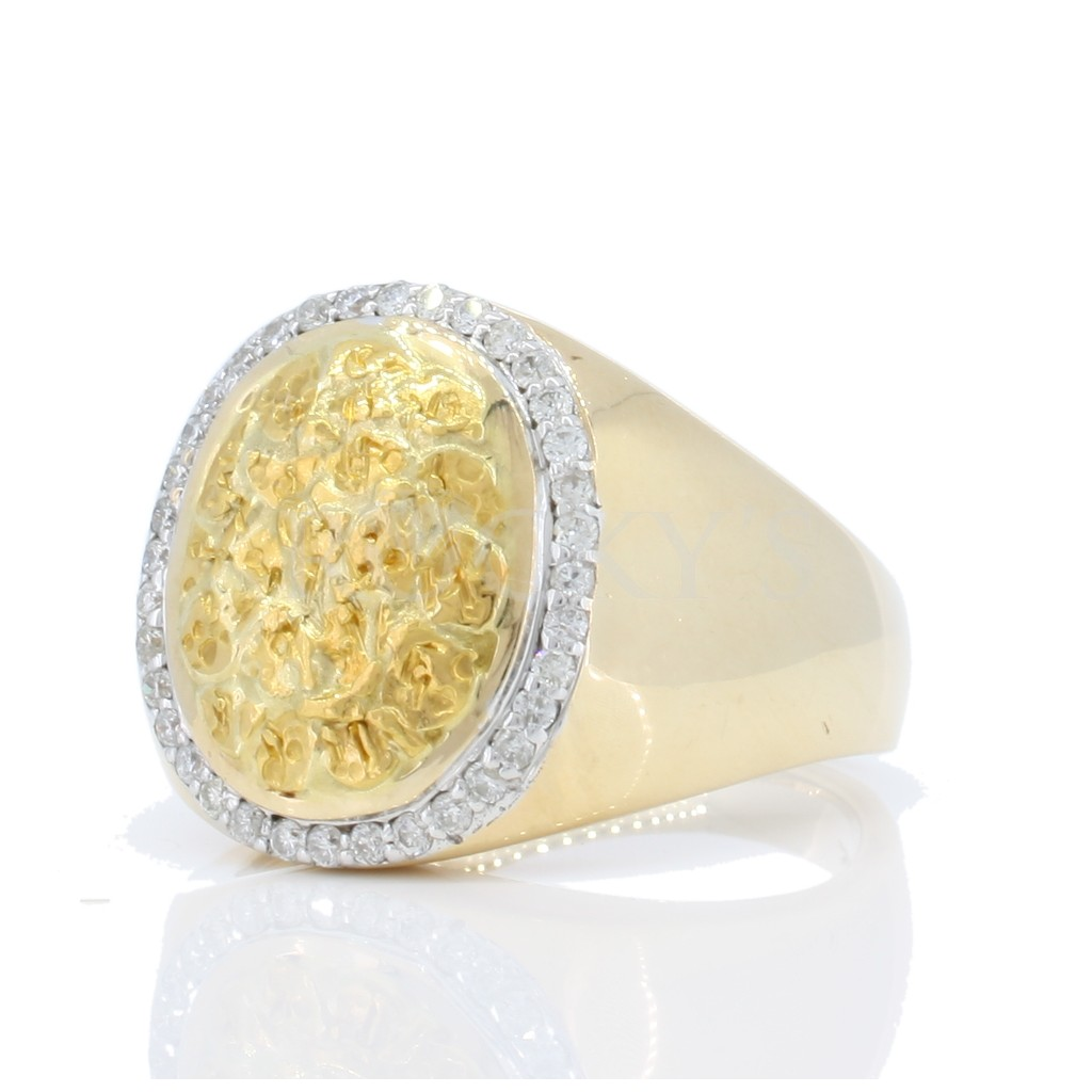 Men's Nugget Diamond Ring with 0.37 Carats