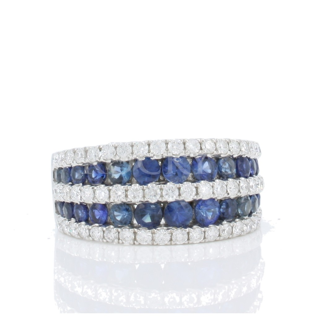 Sapphire Diamond Ring with 2.37 Carats