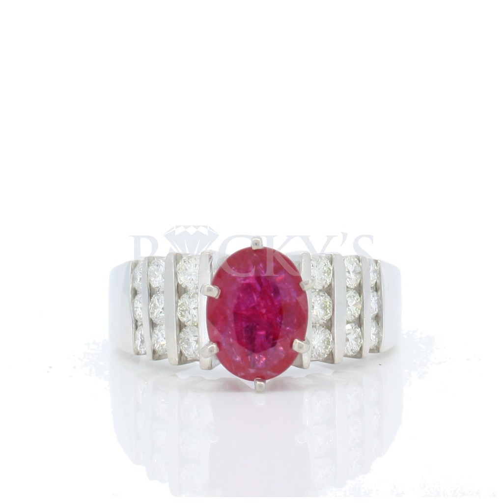Ruby Diamond Ring with 1.98 Carats
