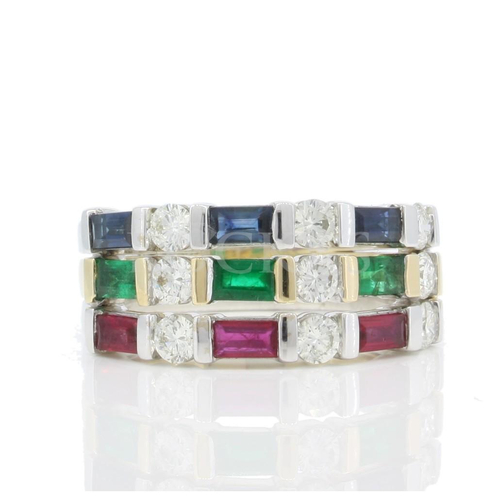 Multi Stone Diamond Ring with 1.80 Carats