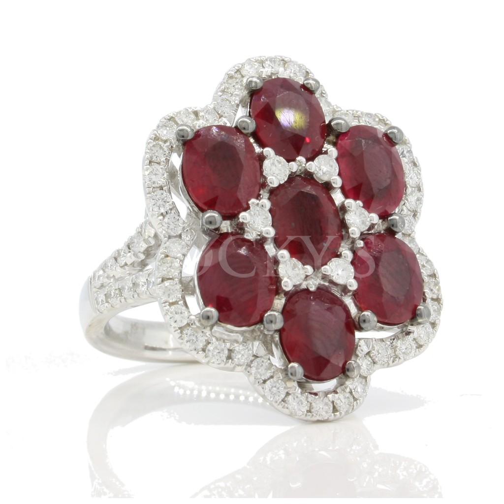 Ruby Diamond Ring with 6.64 Carats