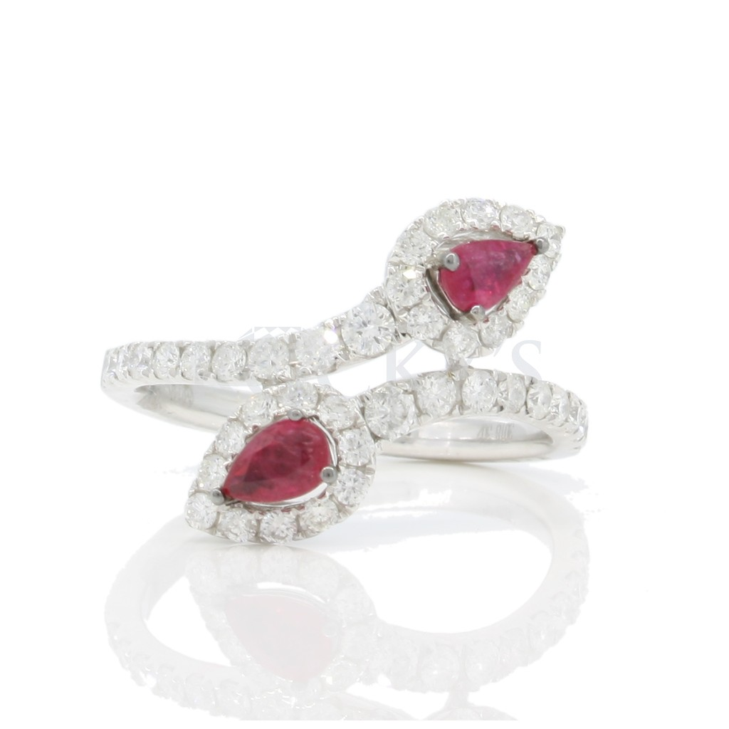 Ruby Diamond Ring with 1.33 Carats