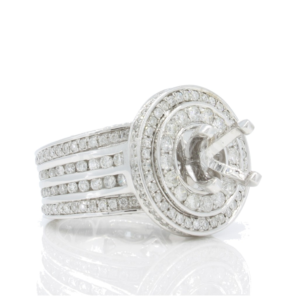 Engagement Ring Mount with 2.55 Carats