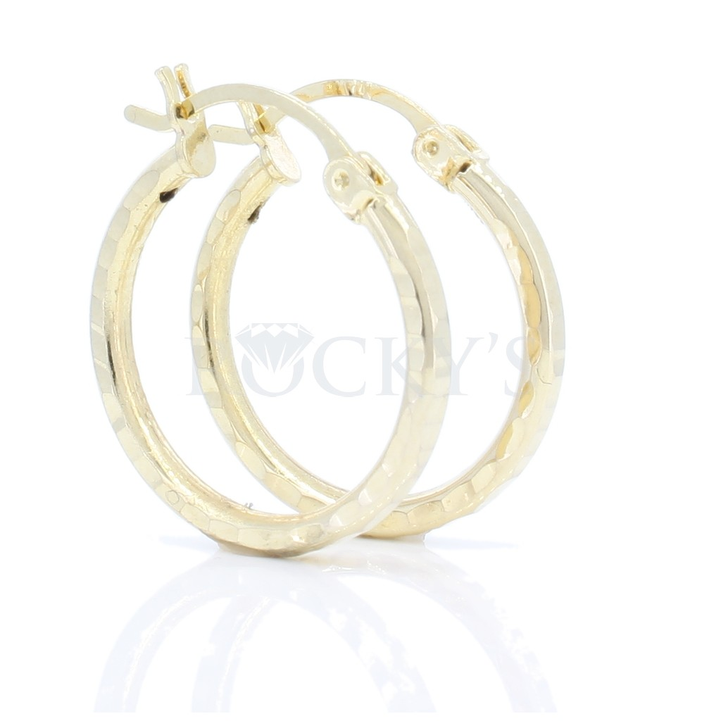14K YELLOW GOLD HOOPS EARRINGS