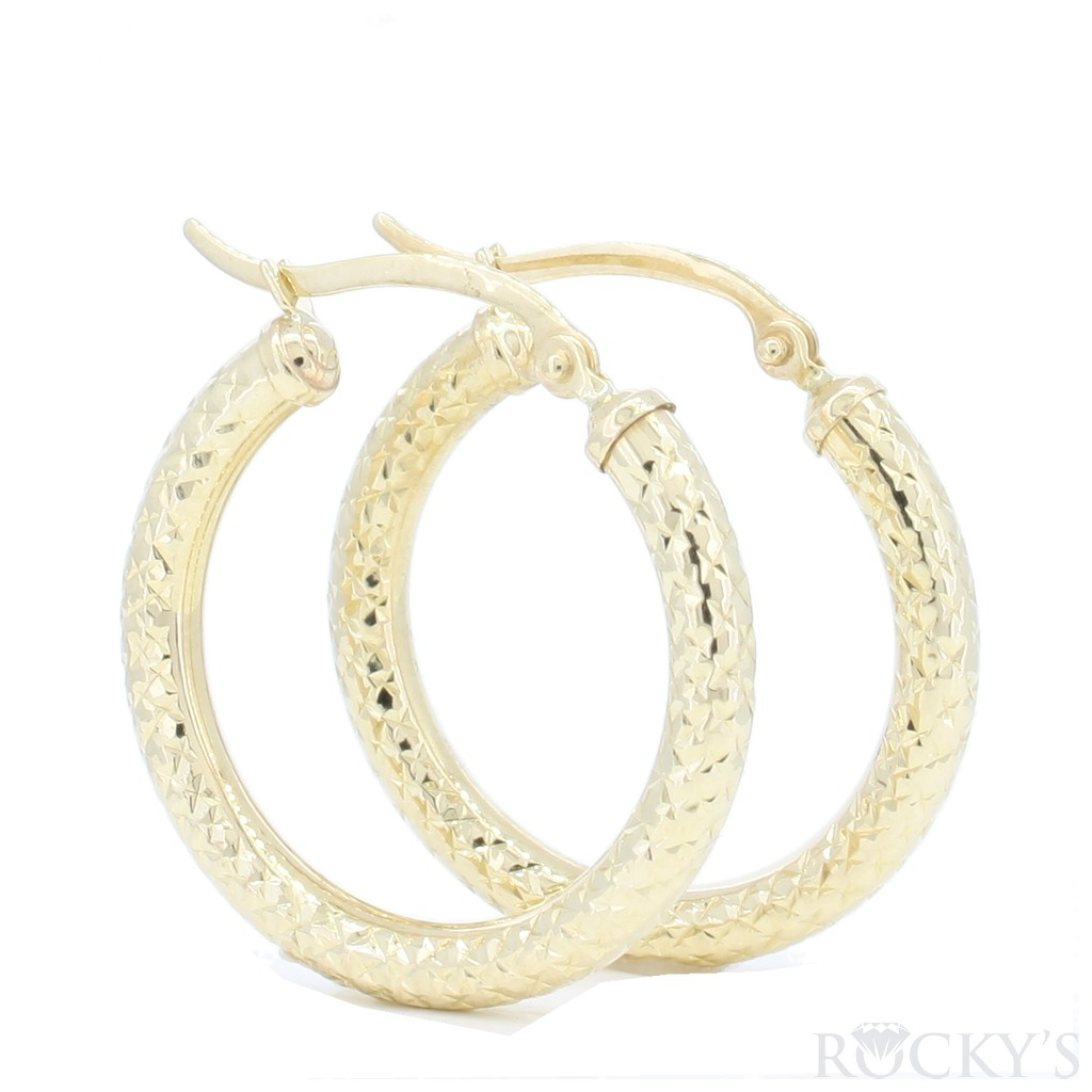 10K YELLOW GOLD HOOPS EARRINGS