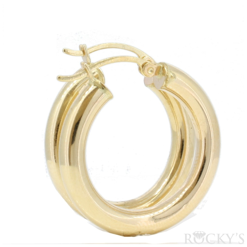10K HOOPS EARRINGS