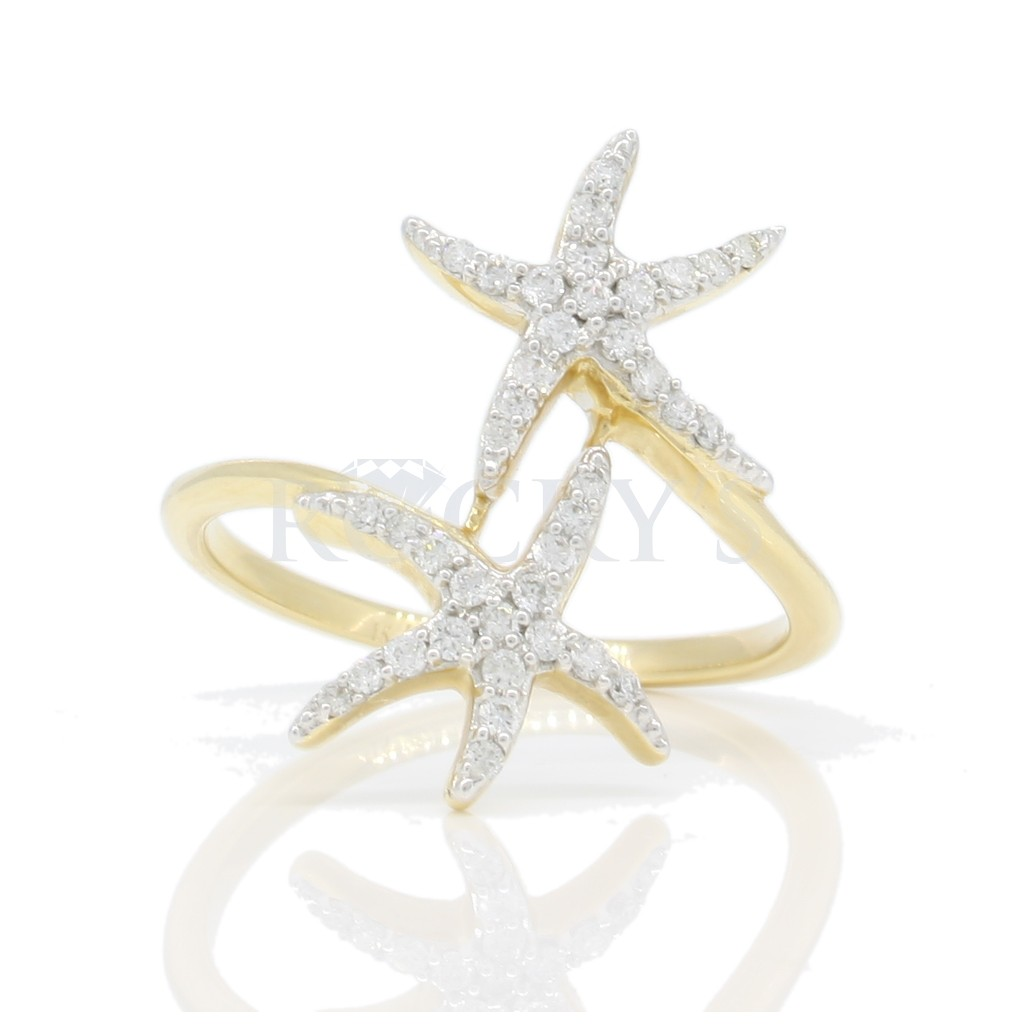 Starfish Diamond ring with 0.27ct