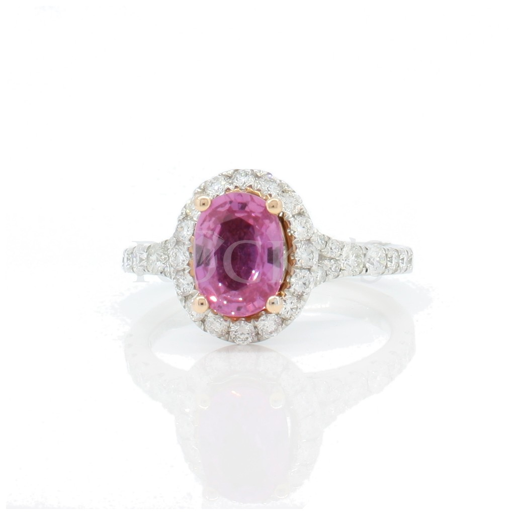 Pink sapphire ring with 2.32 carat.