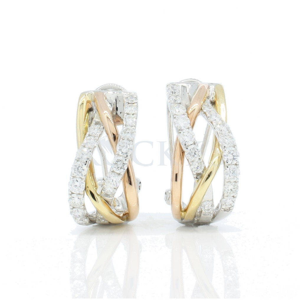 Diamond earring with 1.23 carat