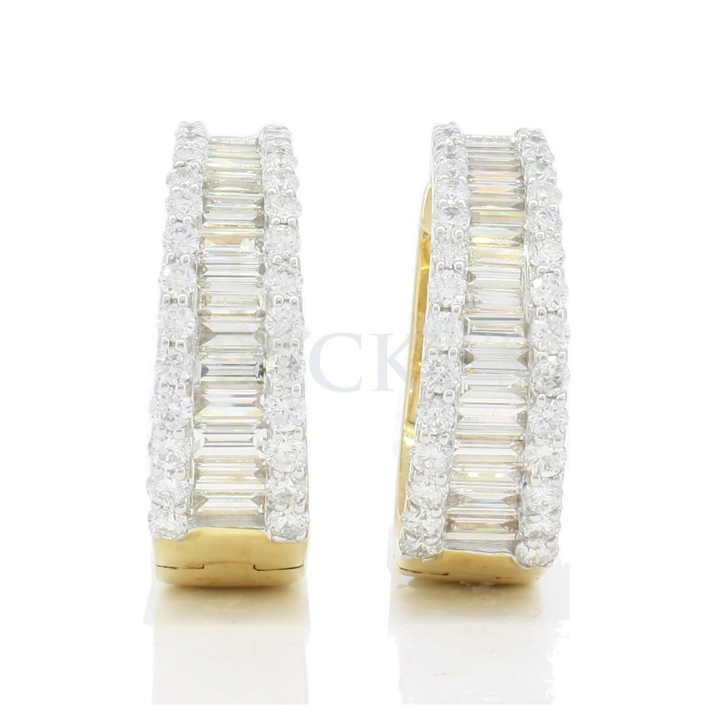 Diamond earring with 3.75 carat.