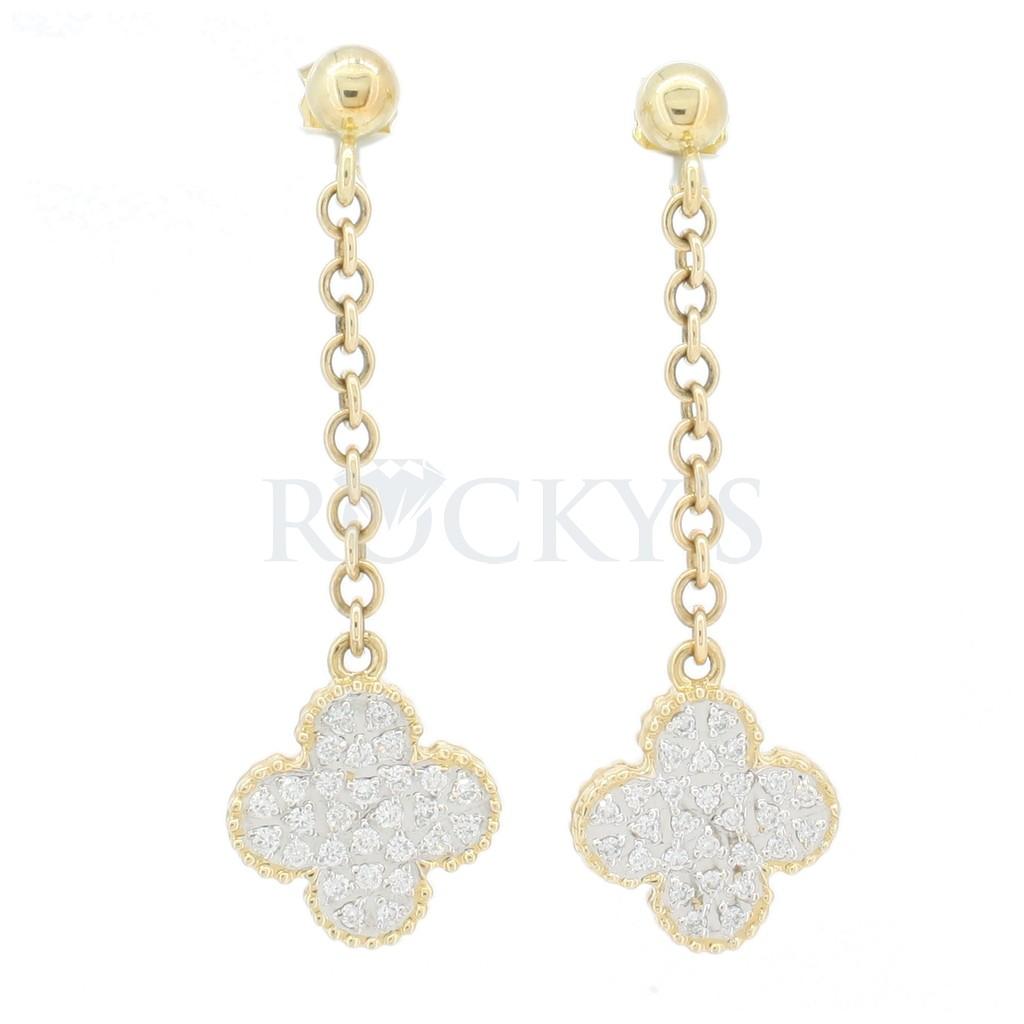 14k Dangling earring with diamonds 0.62 carats