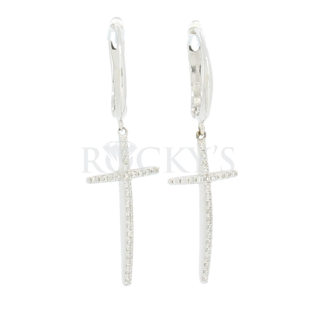 Diamond cross earring with 0.61 carats