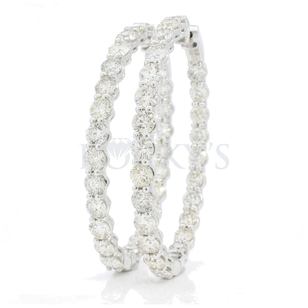 Diamond hoops with 13.75 carats
