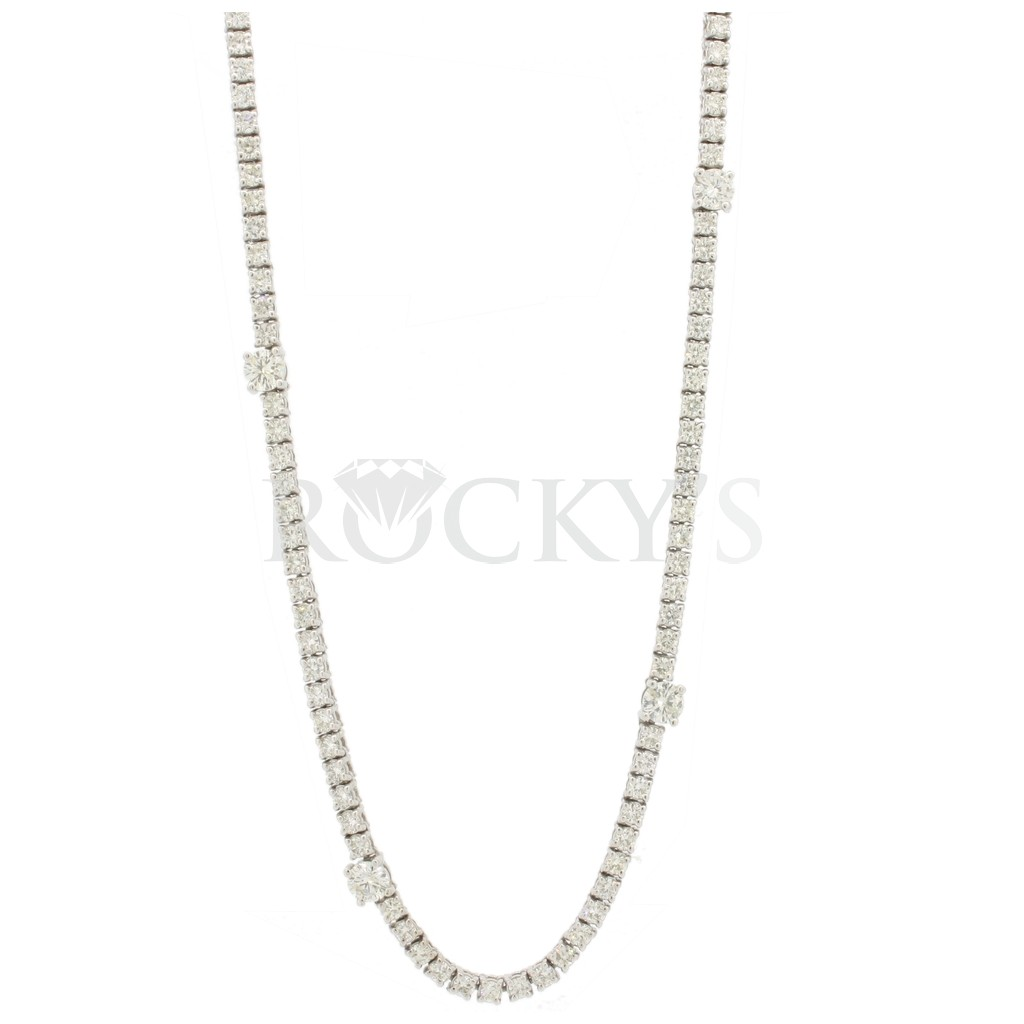 Diamond by the yard necklace with 8.79 carats
