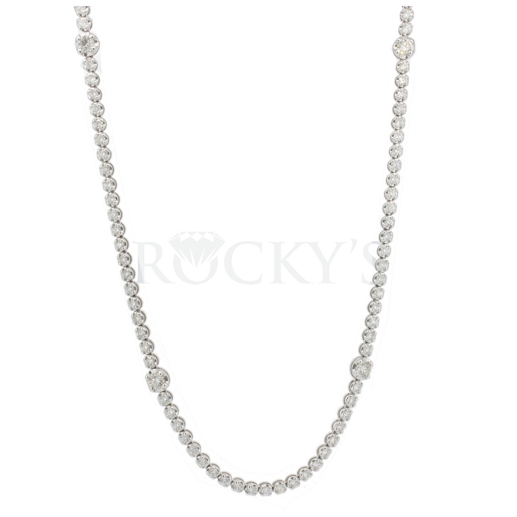Diamond by the yard necklace with 11.72 carats