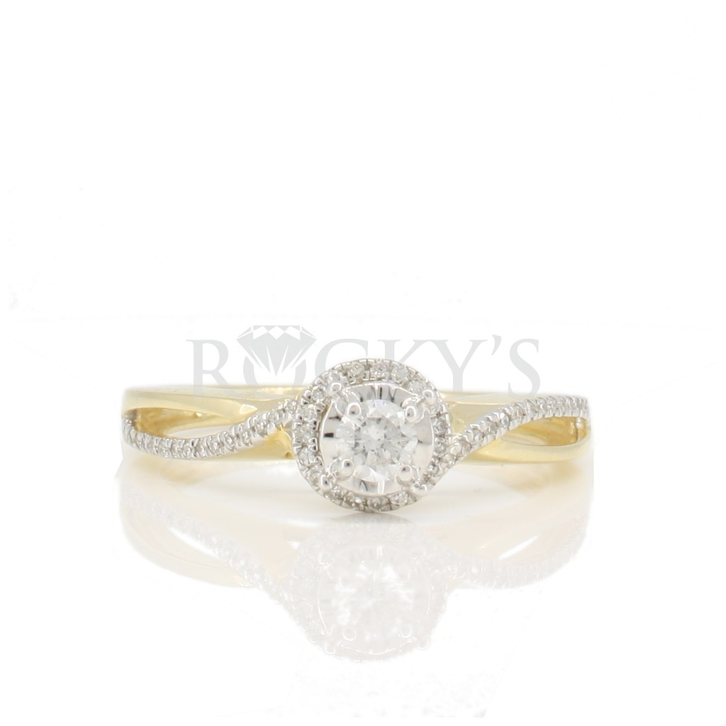 Engagement diamond ring with 0.25 carat