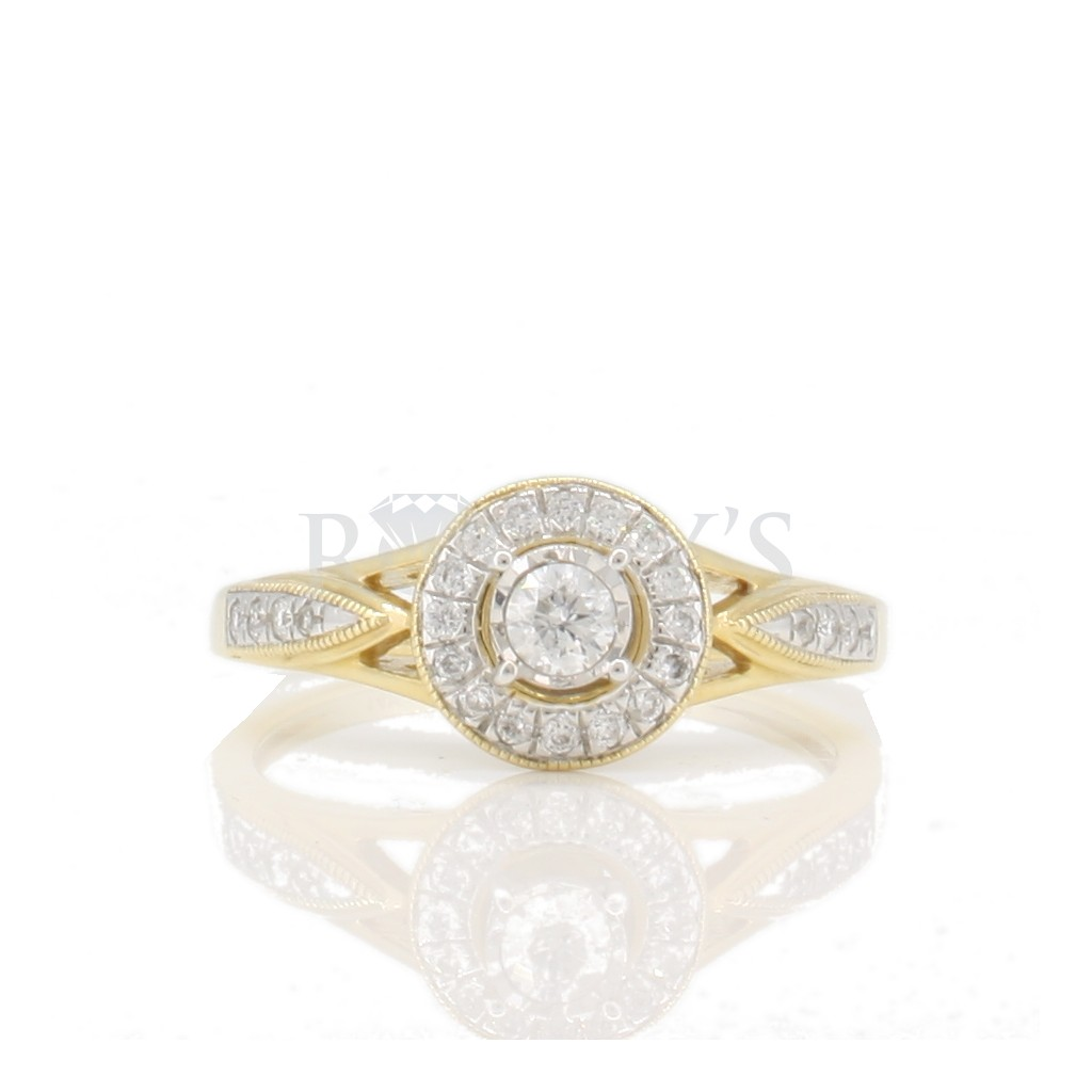 Engagement diamond ring with 0.26 carat