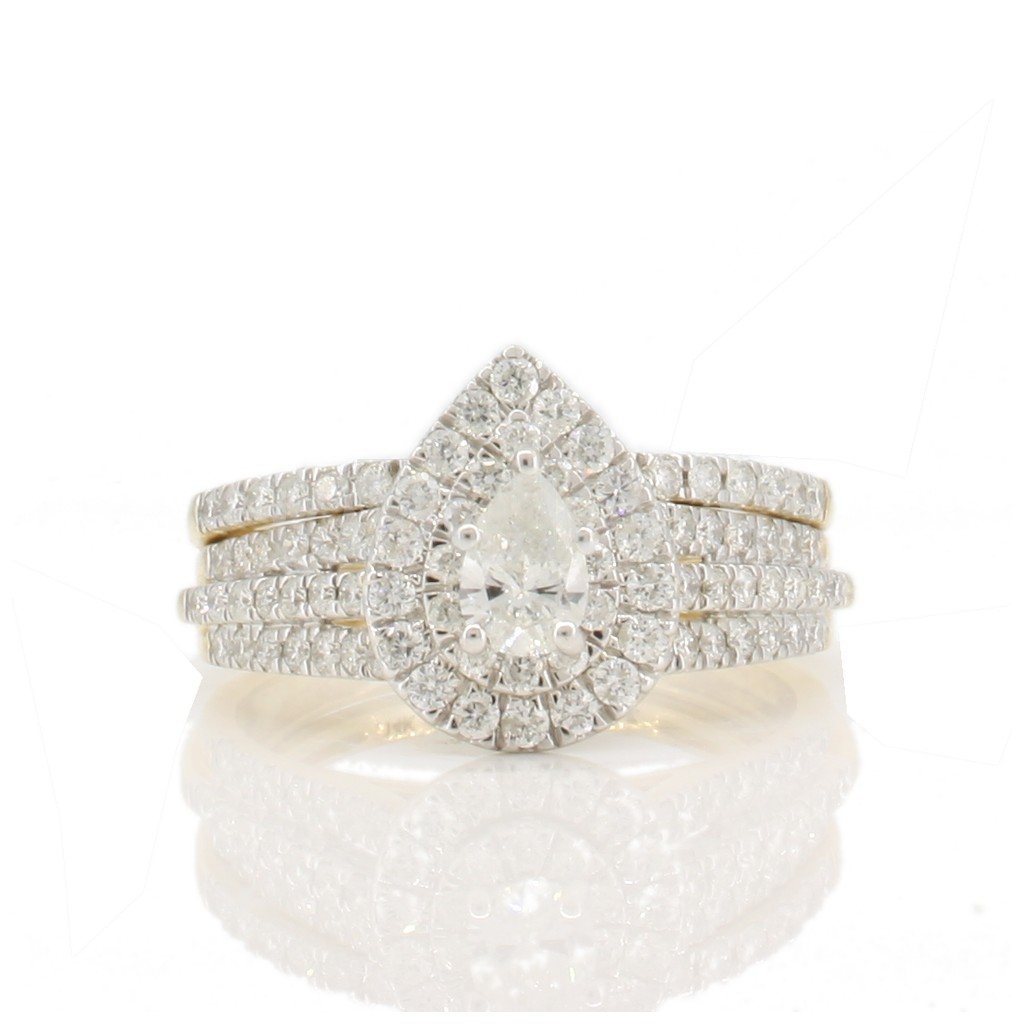 Engagement diamond ring with 1.00 carat