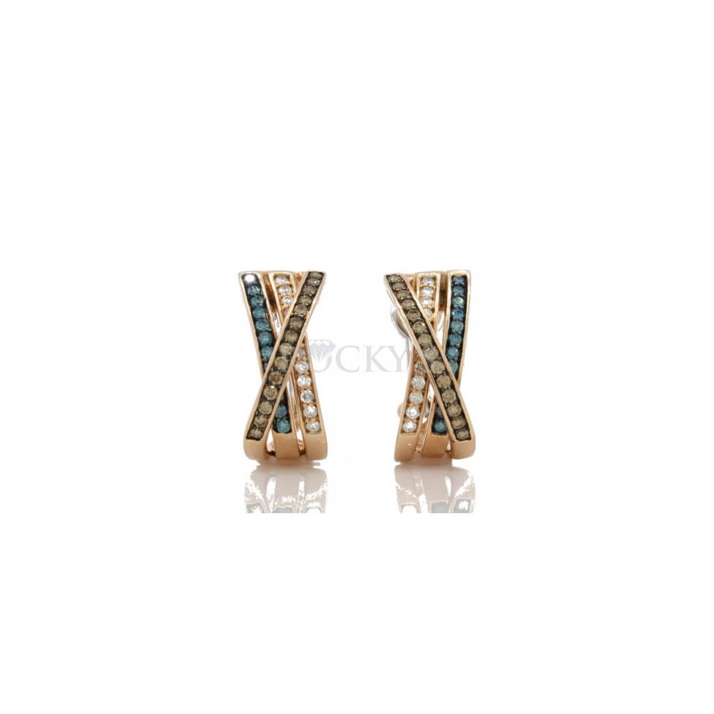 Multi Color Diamonds Earrings 1.03 carats