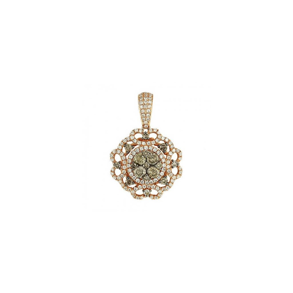 Champagne Diamond Pendent with 1.65 Carats
