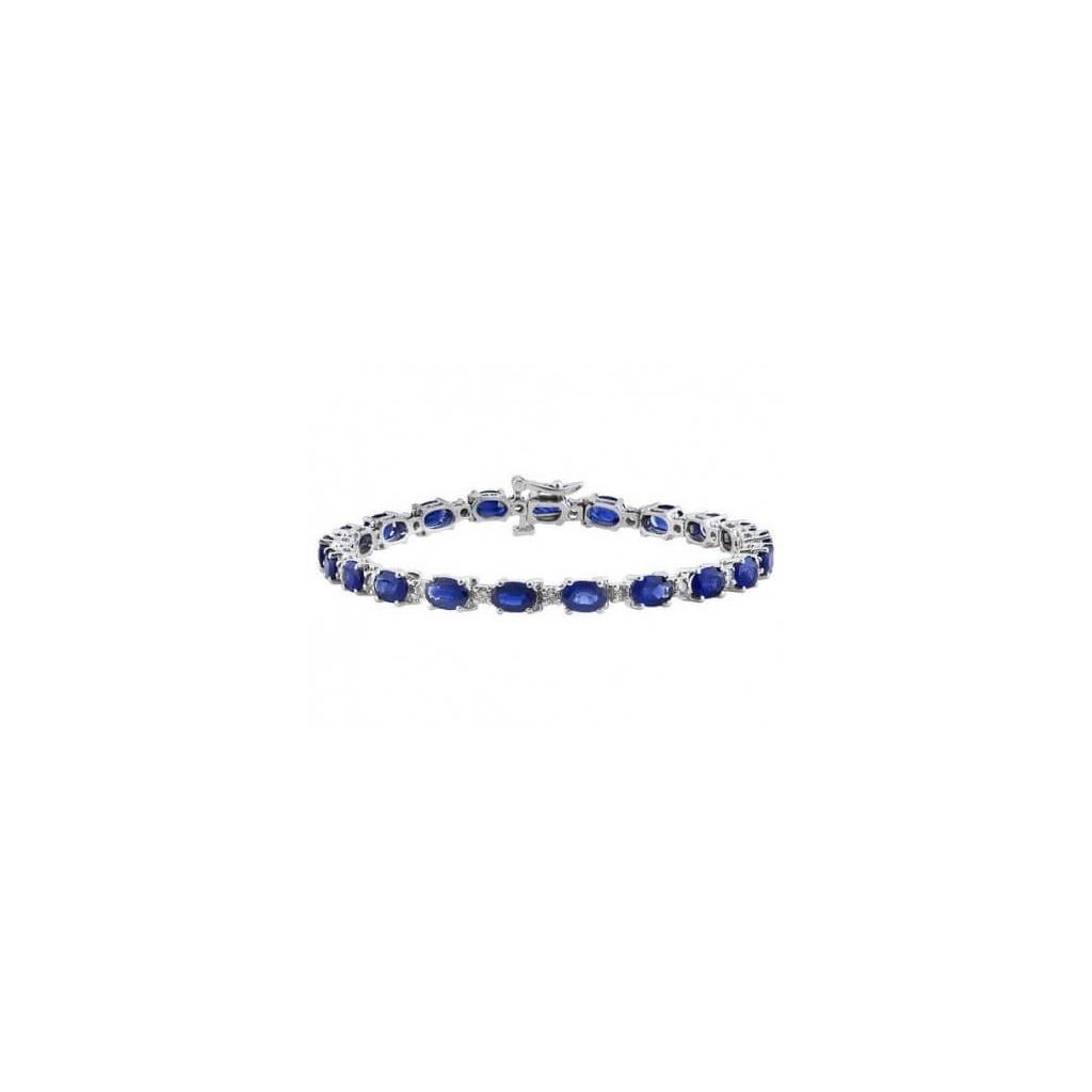 Sapphire Diamond Bracelet with 13.86 Carats