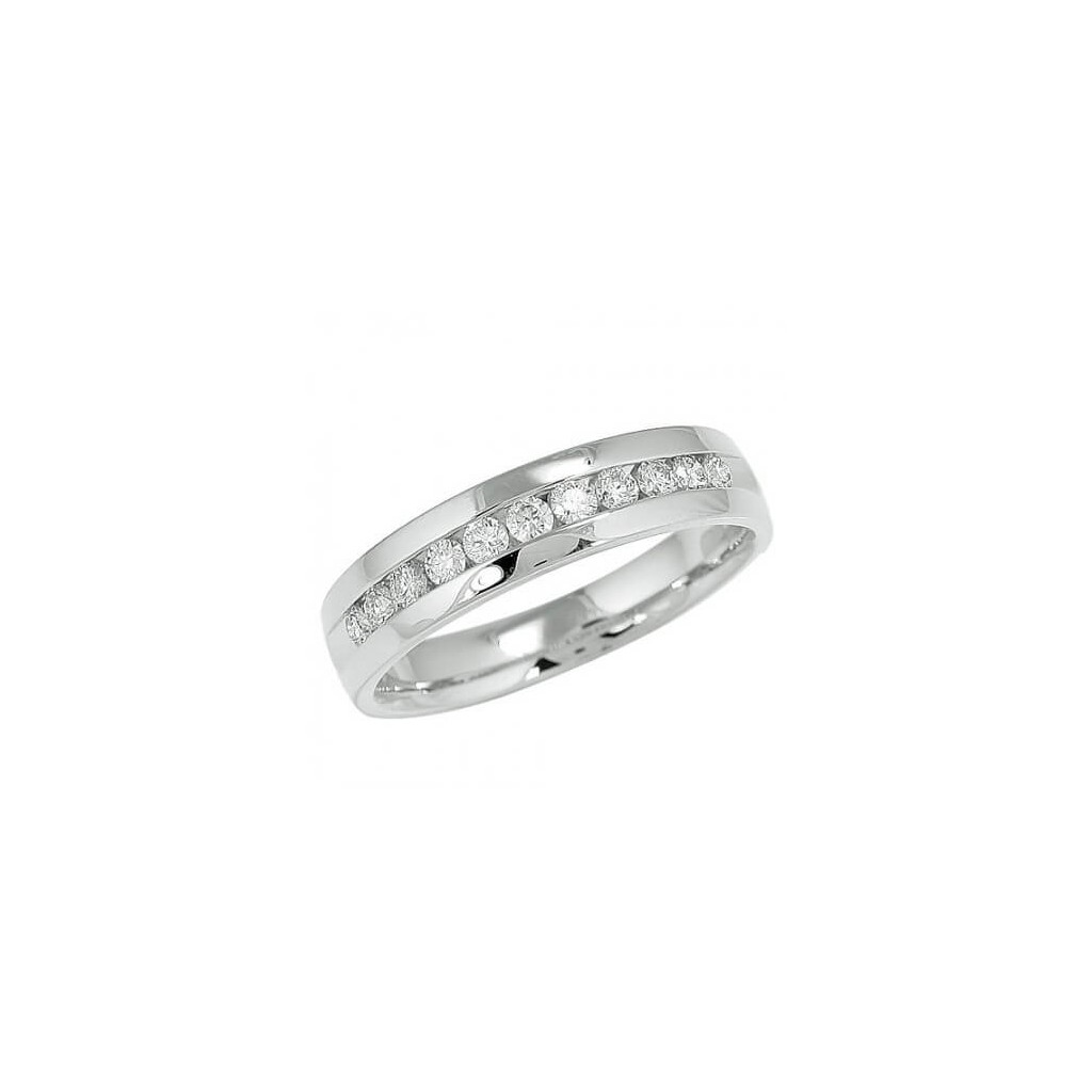 11 Channel Men's Diamond Band with 0.50 Carat