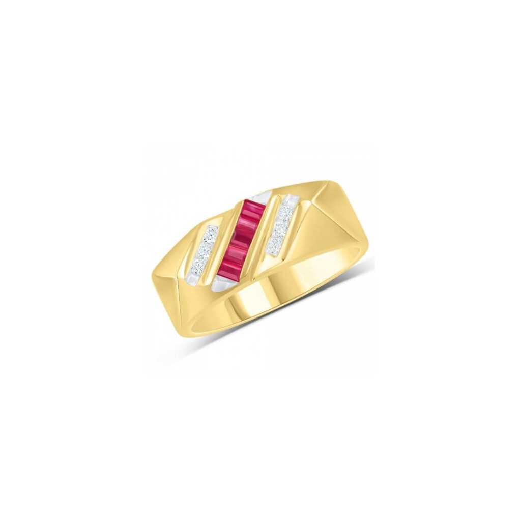 Men's Ruby Ring with 0.53 Carat