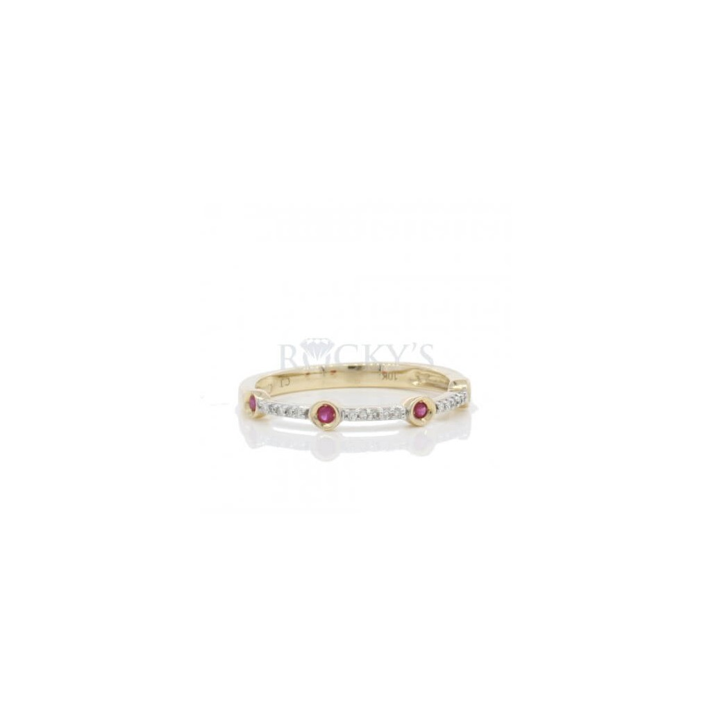 Ruby Diamond Ring with 0.19 Carats