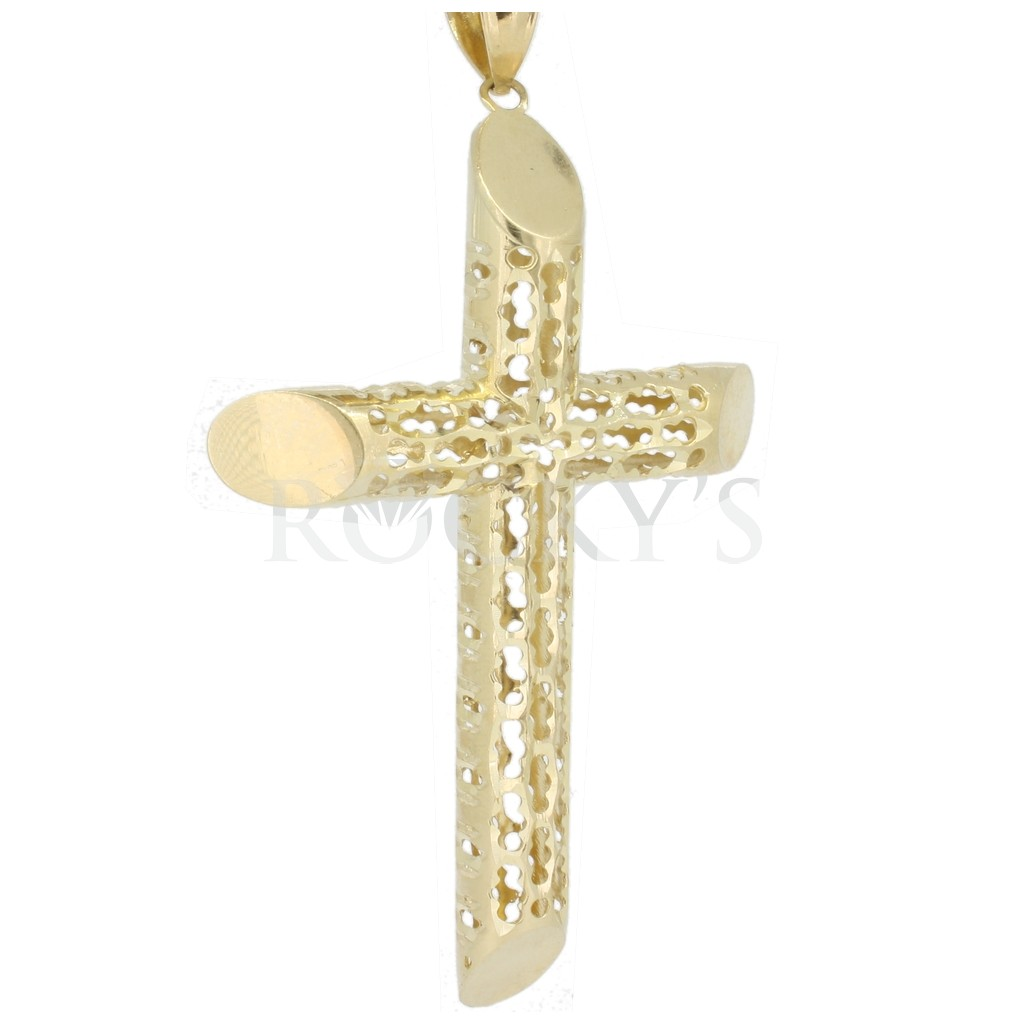 10k yellow gold cross pendant