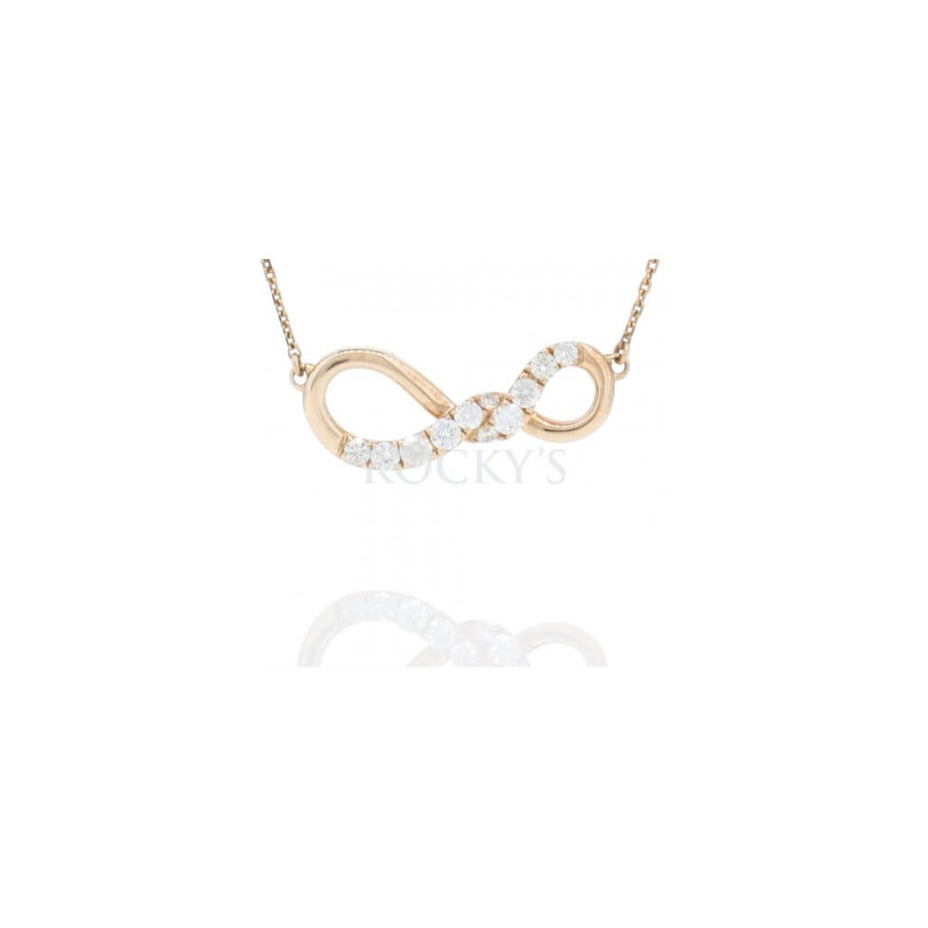 Infinity Pendent with 0.51  Carats