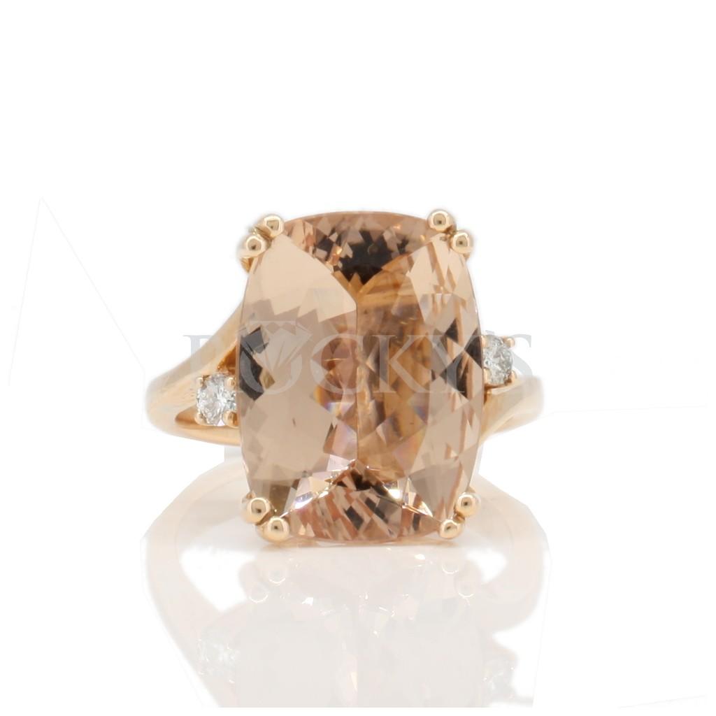 Morganite ring with 8.04 carats