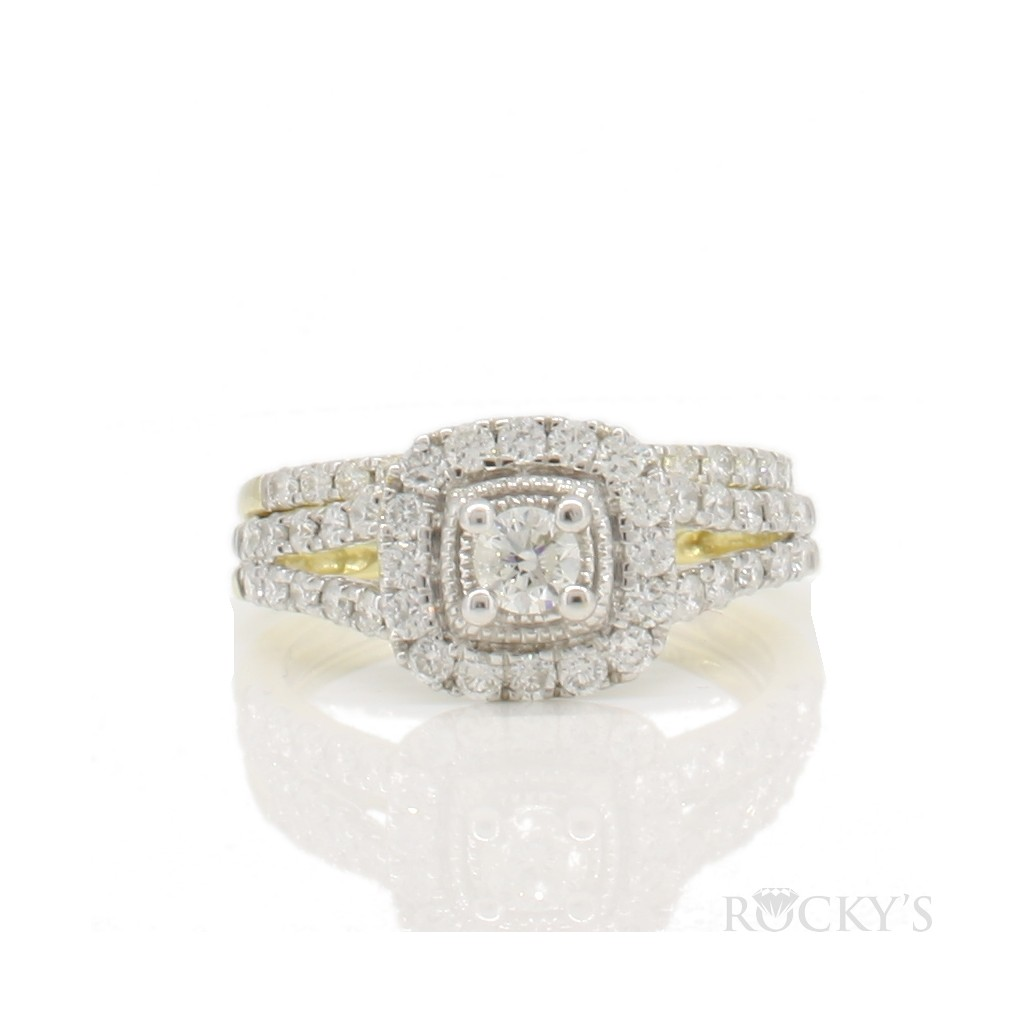 14k engagement ring with...