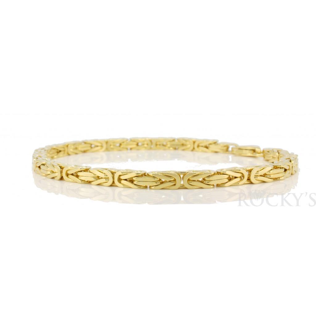 14k yellow gold kings link bracelet