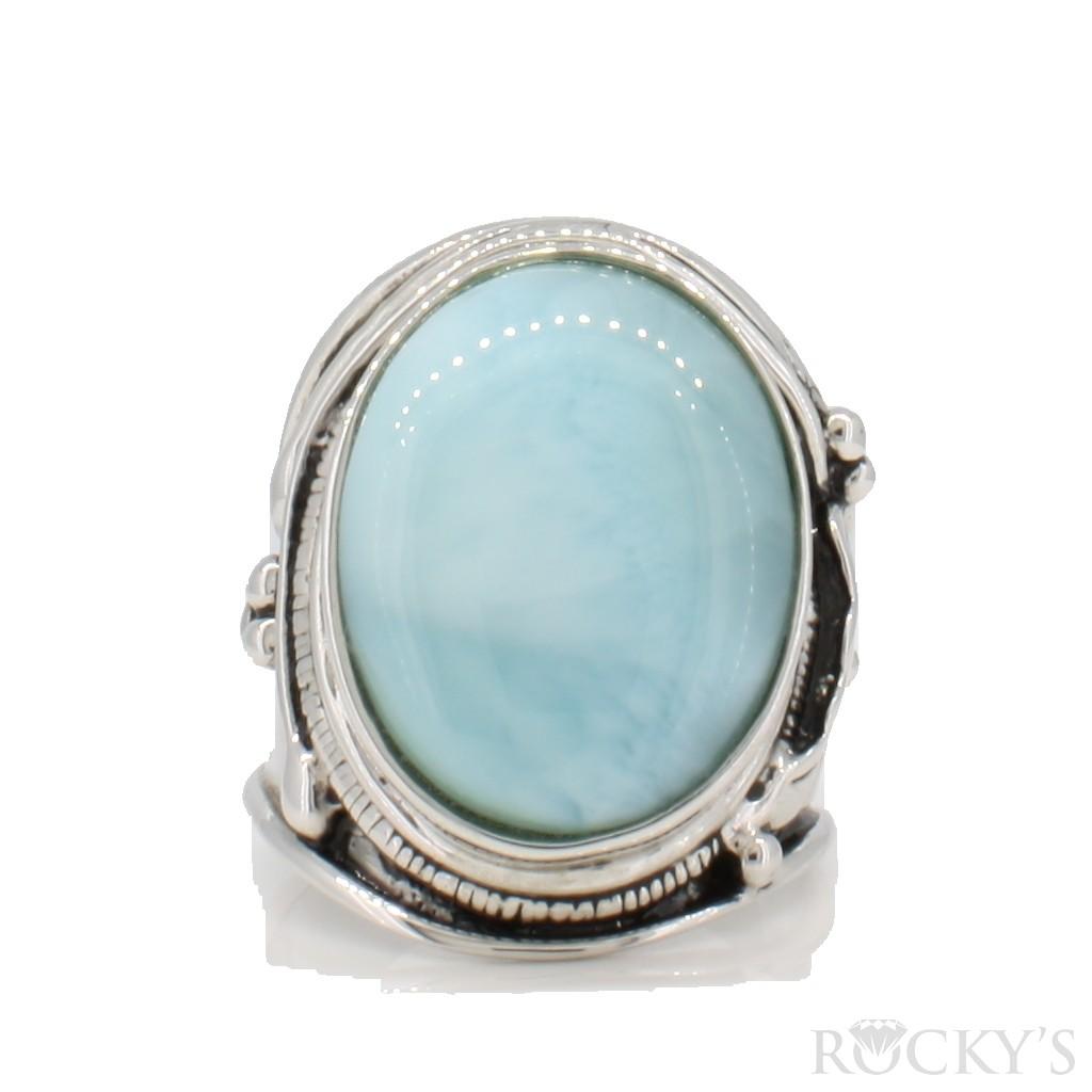Sterling Silver Larimar ring -LA30148