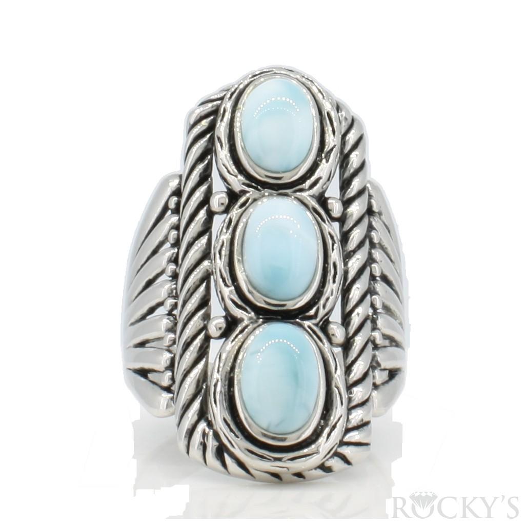 Sterling Silver Larimar ring -LA30143