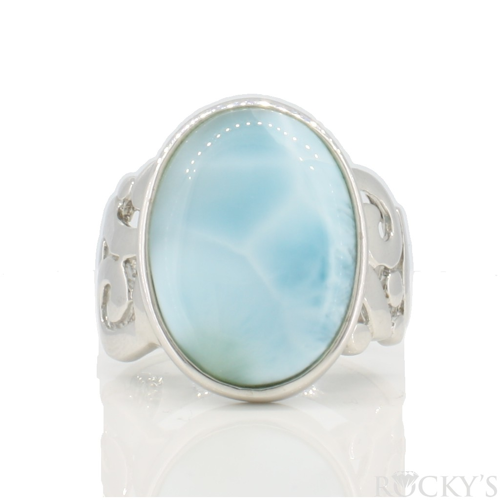 Sterling Silver Larimar ring -LA30149