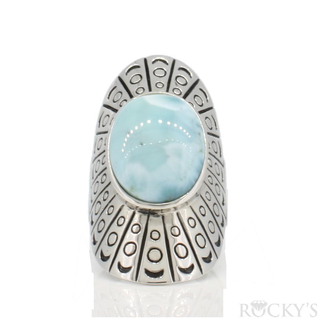 Sterling Silver Larimar ring -LA30161