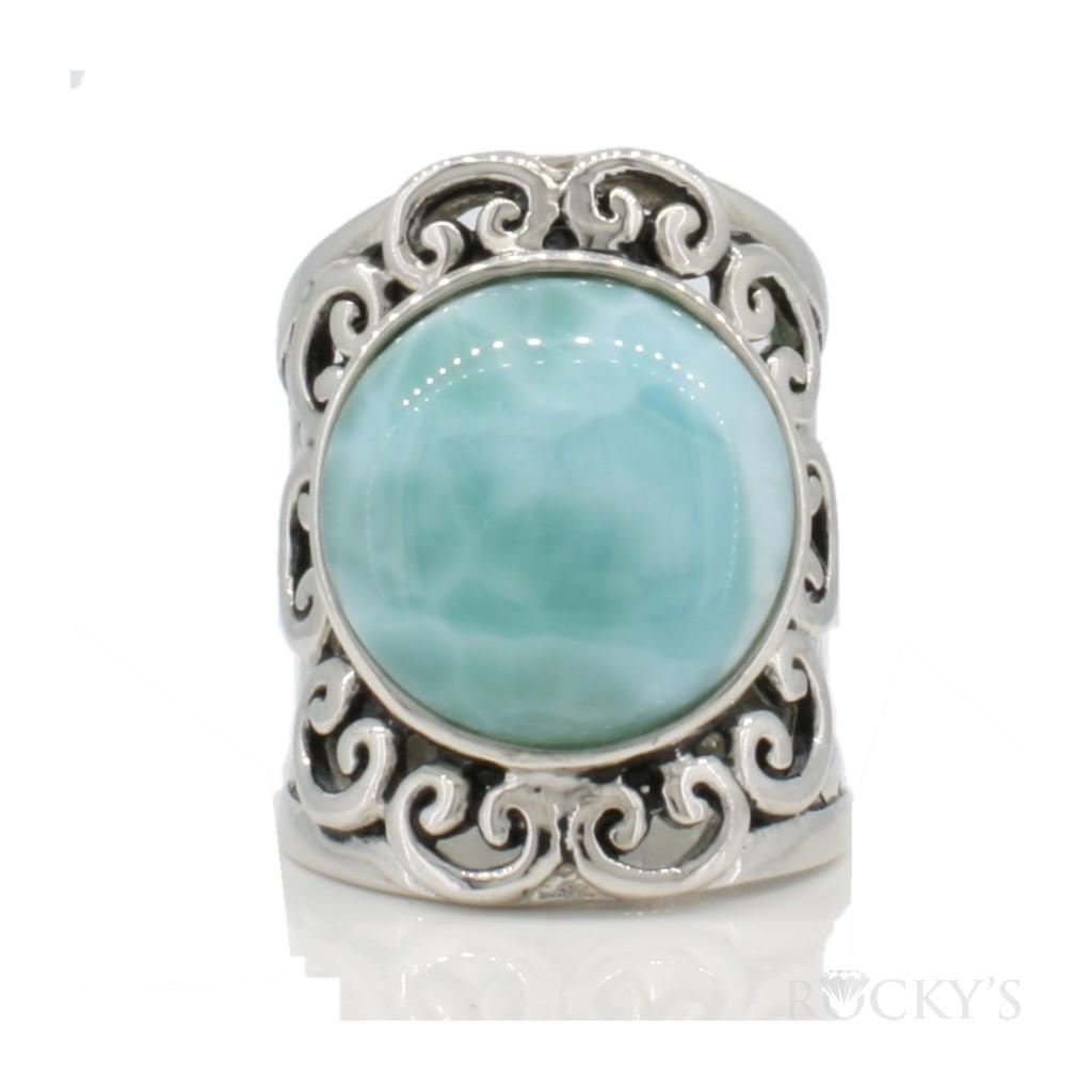Sterling Silver Larimar ring-LA30147