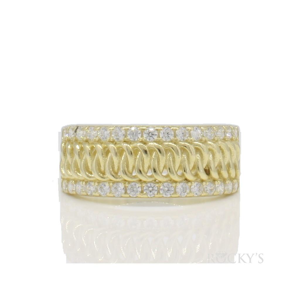 10k yellow gold men's nugget ring-36823