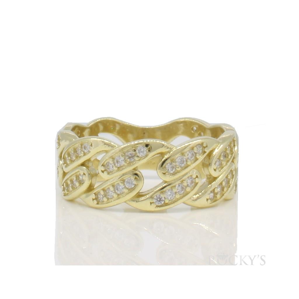 10k yellow gold men's nugget ring-36831
