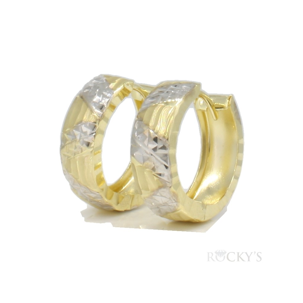 10K yellow gold huggie earring - 39039