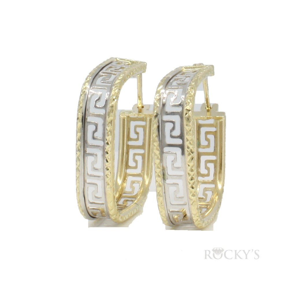 10k yellow gold hoops earring - 36815