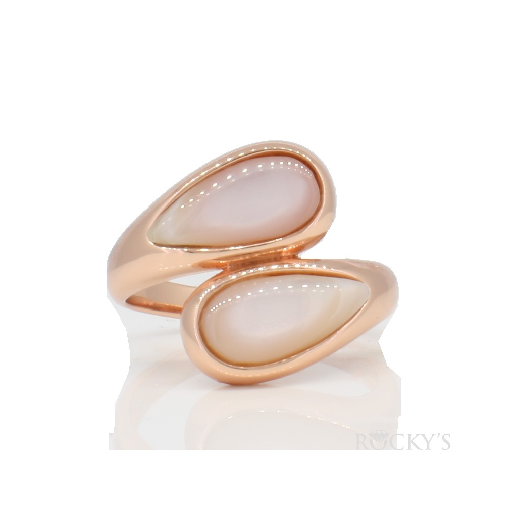Sterling silver ring with pink mother of pearl
