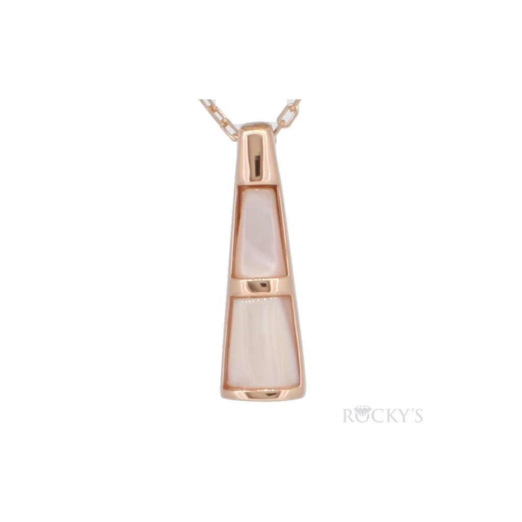 Pink mother of pearl sterling silver pendant