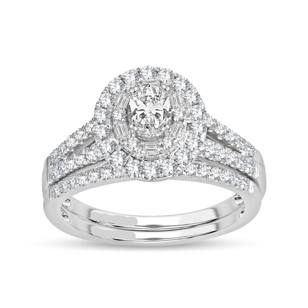 Engagement diamond ring in 14K gold with 1.00 carat