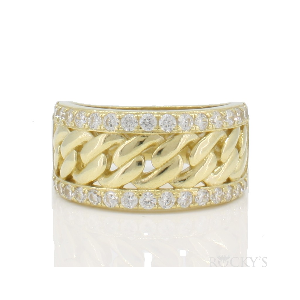 10k yellow gold men's ring